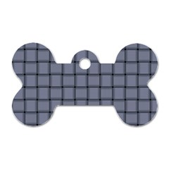 Cool Gray Weave Dog Tag Bone (Two Sided)