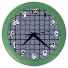 Cool Gray Weave Wall Clock (color)
