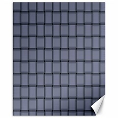 Cool Gray Weave Canvas 11  x 14  9 (Unframed)
