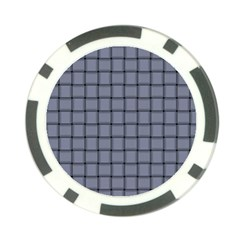 Cool Gray Weave Poker Chip