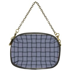 Cool Gray Weave Chain Purse (one Side)