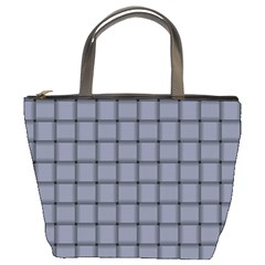 Cool Gray Weave Bucket Bag