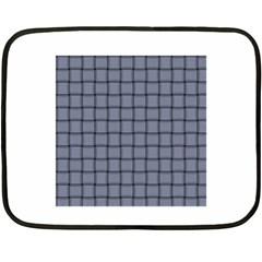 Cool Gray Weave Mini Fleece Blanket (Two-sided)