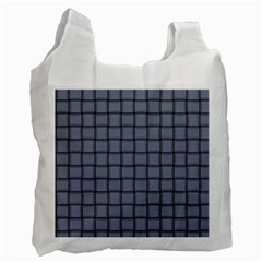Cool Gray Weave Recycle Bag (two Sides)