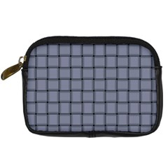 Cool Gray Weave Digital Camera Leather Case