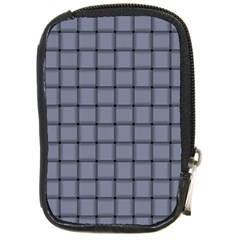 Cool Gray Weave Compact Camera Leather Case