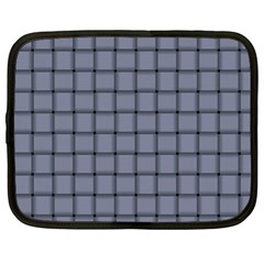 Cool Gray Weave Netbook Case (XL)