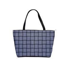 Cool Gray Weave Large Shoulder Bag