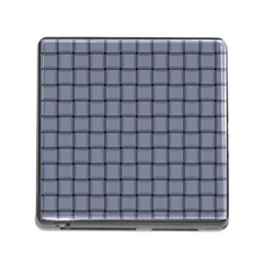 Cool Gray Weave Memory Card Reader with Storage (Square)