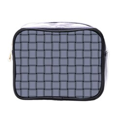 Cool Gray Weave Mini Travel Toiletry Bag (One Side)