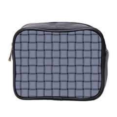 Cool Gray Weave Mini Travel Toiletry Bag (Two Sides)