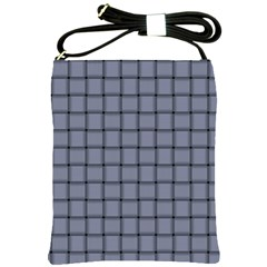 Cool Gray Weave Shoulder Sling Bag