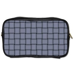 Cool Gray Weave Travel Toiletry Bag (Two Sides)