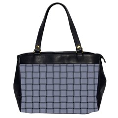 Cool Gray Weave Oversize Office Handbag (two Sides)