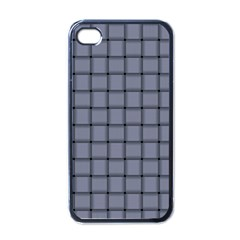 Cool Gray Weave Apple Iphone 4 Case (black)