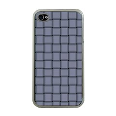 Cool Gray Weave Apple Iphone 4 Case (clear)
