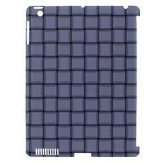 Cool Gray Weave Apple Ipad 3/4 Hardshell Case (compatible With Smart Cover)