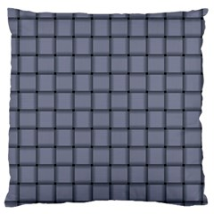 Cool Gray Weave Large Cushion Case (two Sides)