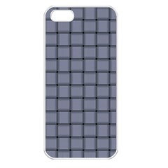 Cool Gray Weave Apple Iphone 5 Seamless Case (white)