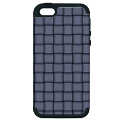 Cool Gray Weave Apple Iphone 5 Hardshell Case (pc+silicone)