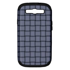 Cool Gray Weave Samsung Galaxy S Iii Hardshell Case (pc+silicone)