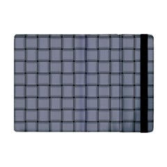Cool Gray Weave Apple Ipad Mini Flip Case