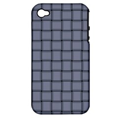 Cool Gray Weave Apple Iphone 4/4s Hardshell Case (pc+silicone)