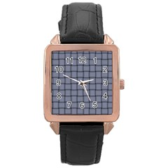 Cool Gray Weave Rose Gold Leather Watch
