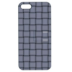 Cool Gray Weave Apple iPhone 5 Hardshell Case with Stand