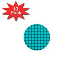 Cyan Weave 1  Mini Button (10 pack)