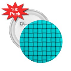 Cyan Weave 2 25  Button (100 Pack)