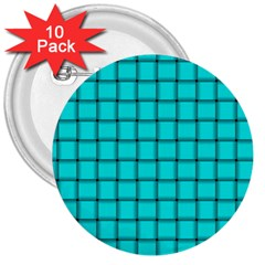 Cyan Weave 3  Button (10 pack)