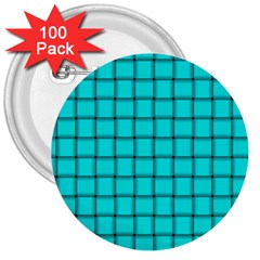 Cyan Weave 3  Button (100 pack)