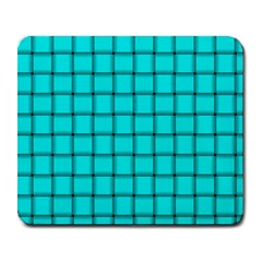 Cyan Weave Large Mouse Pad (rectangle)