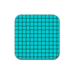 Cyan Weave Drink Coaster (Square)