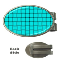 Cyan Weave Money Clip (oval)