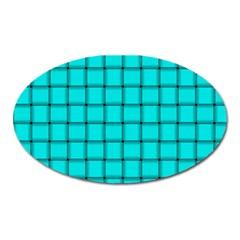 Cyan Weave Magnet (Oval)
