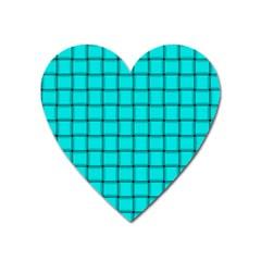 Cyan Weave Magnet (Heart)