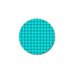 Cyan Weave Golf Ball Marker 4 Pack