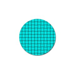 Cyan Weave Golf Ball Marker 10 Pack