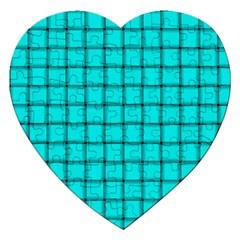 Cyan Weave Jigsaw Puzzle (Heart)