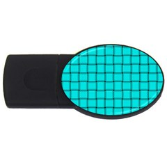 Cyan Weave 4gb Usb Flash Drive (oval)