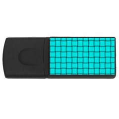 Cyan Weave 4gb Usb Flash Drive (rectangle)