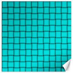 Cyan Weave Canvas 16  x 16  (Unframed)