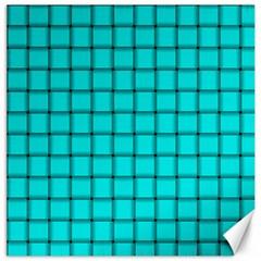 Cyan Weave Canvas 20  x 20  (Unframed)