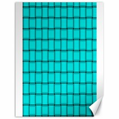Cyan Weave Canvas 18  X 24  (unframed)