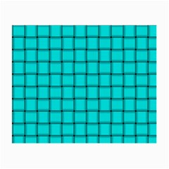 Cyan Weave Glasses Cloth (Small, Two Sided)