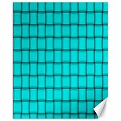 Cyan Weave Canvas 11  X 14  9 (unframed)