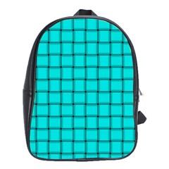 Cyan Weave School Bag (Large)