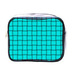 Cyan Weave Mini Travel Toiletry Bag (one Side)